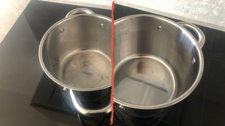 How to clean white stains off stainless steel