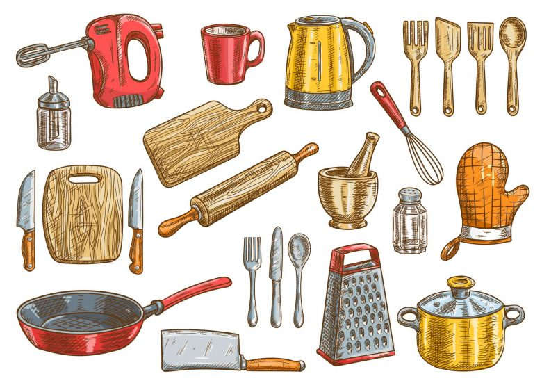 Cooking vessels and utensils
