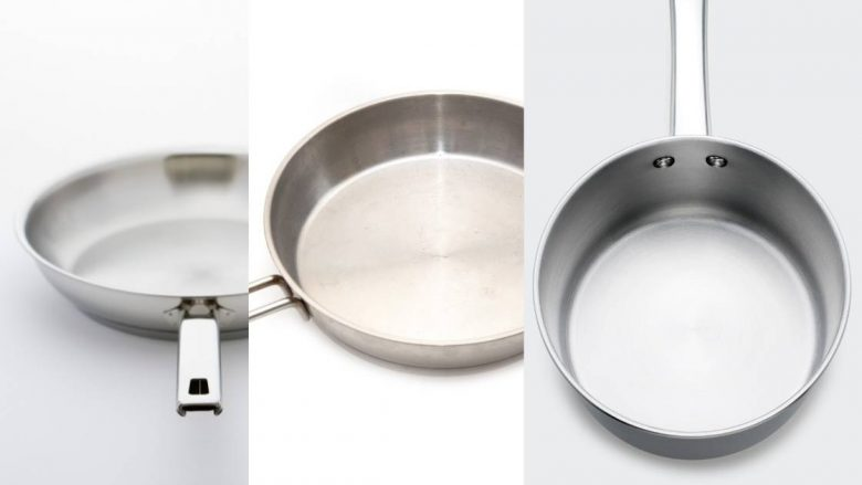 Different types of stainless steel pans